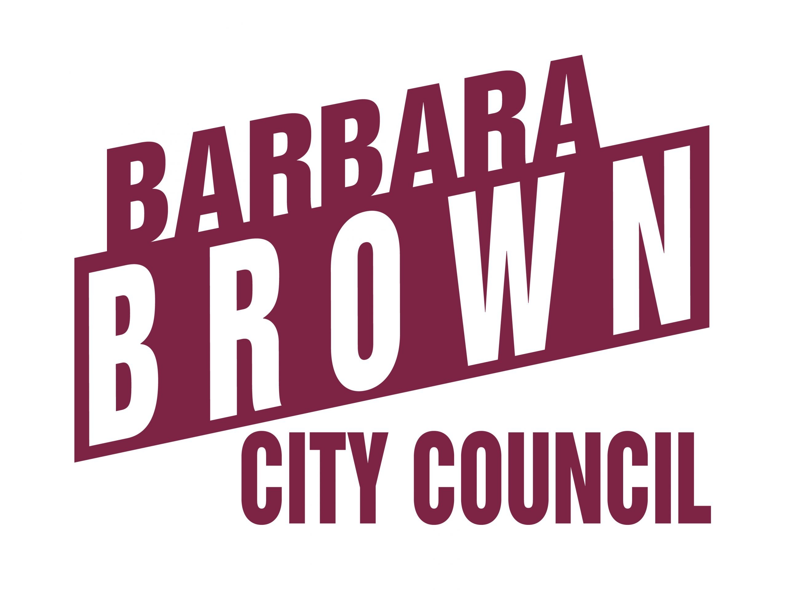 Barbara Brown Yard Sign