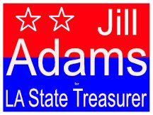 Jill Adams State Treasurer Sign