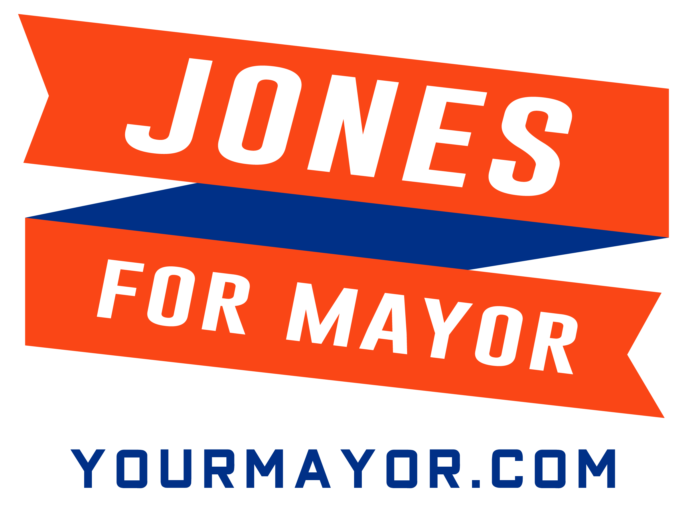 Jones Mayor Sign Wtih Website