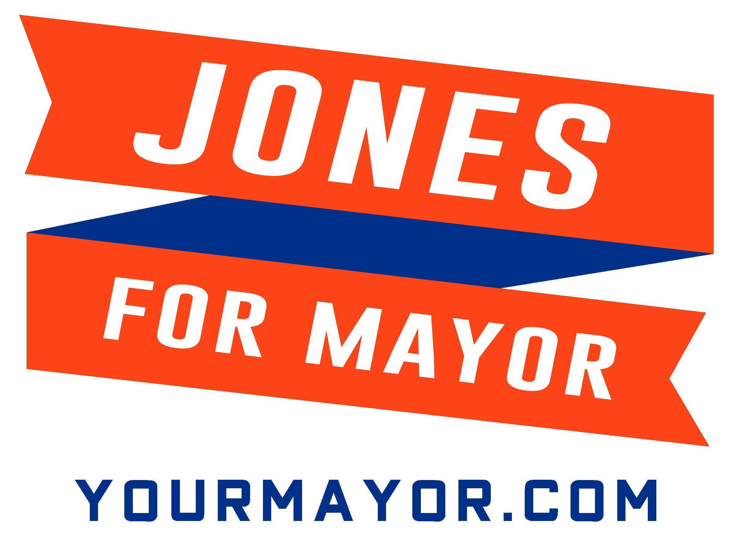 Jones Mayor Sign Wtih Website