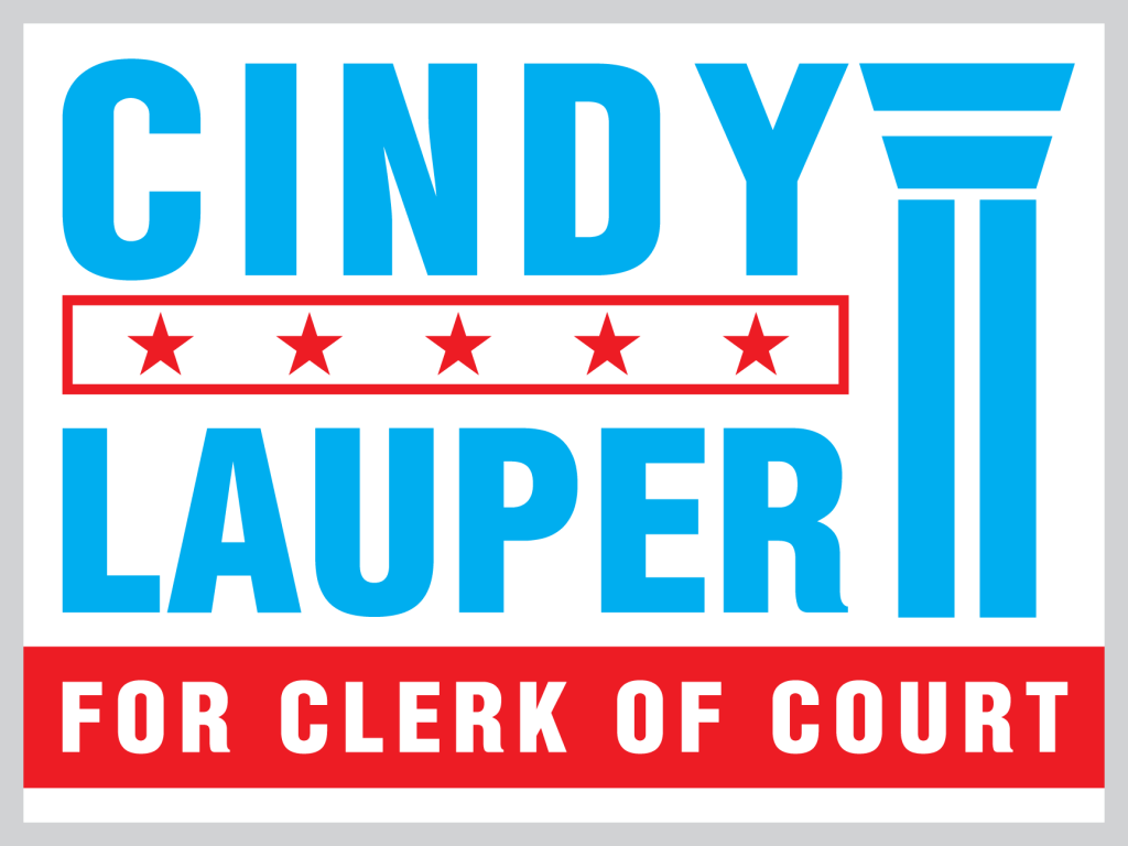 Clerk of Court campaign sign