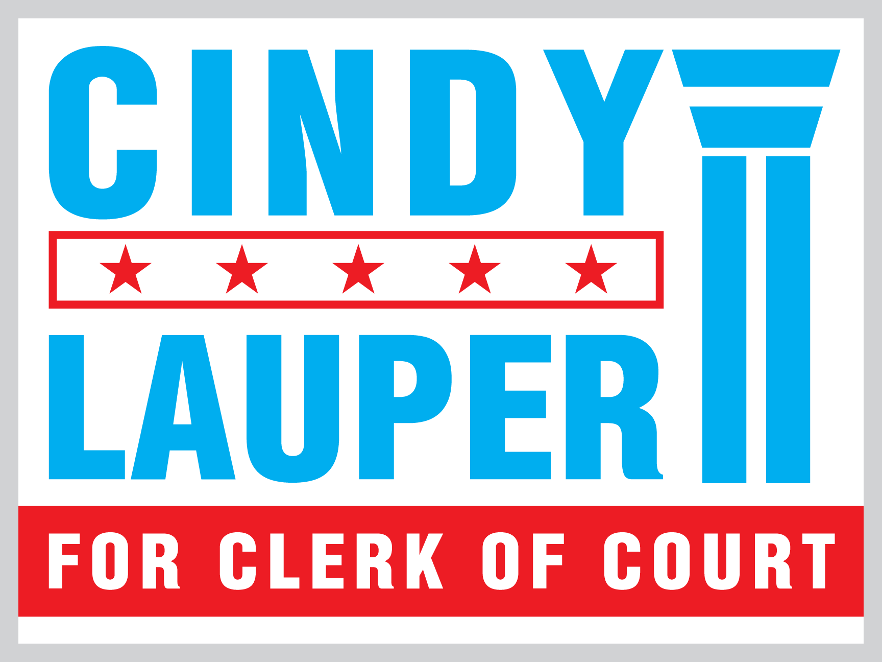 Florida Clerk Of Court Yard Sign Design