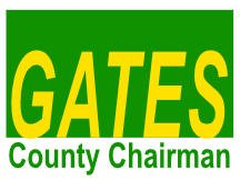 Gates County Chairman Campaign Sign