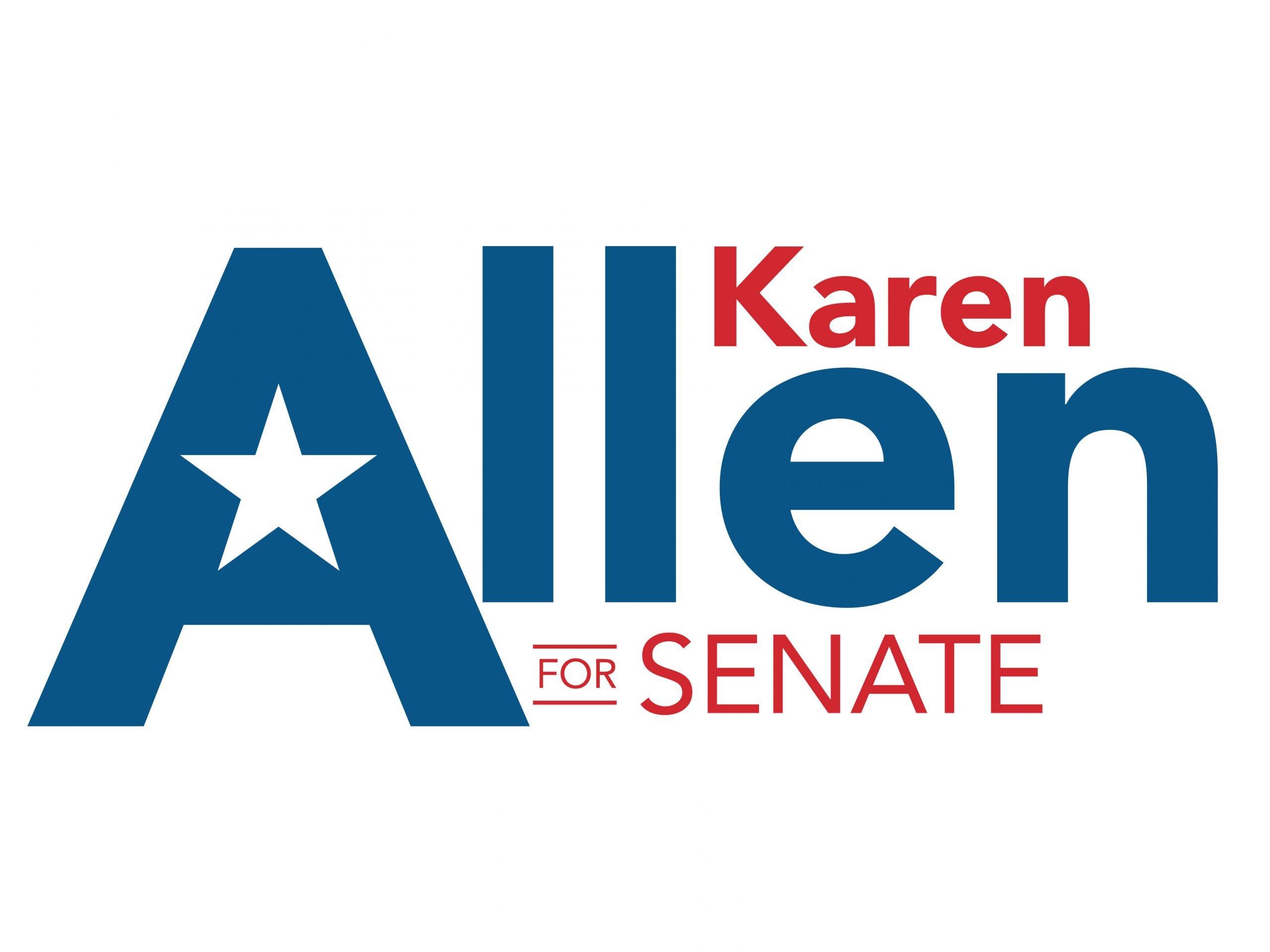 Karen Allen Senate Yard Sign