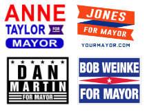 mayor campaig signs