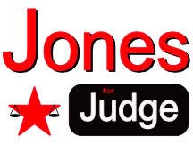 Jones Judge Yard Sign