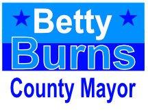 Mayor Burns Yardcsign