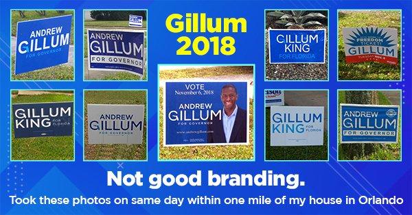Andrew Gillum Signs