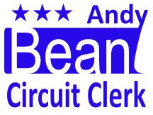 Andy Bean Circuit Clerk Campaign Sign