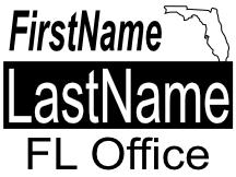 Generic Florida sign template