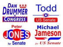 Congress and senate yard sign templates