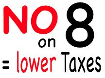 No on 8 initiative for local campaign sign