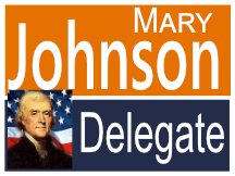 Johnson Virginia Delegate Yard Sign Logo
