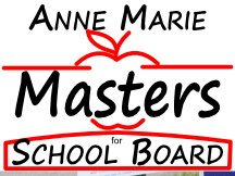 Masters Apple School Board Campaign Sign Red And Black