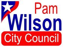 Pam Wilson City Council Sign