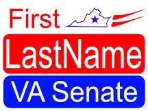 Virginia Senate Yard Sign Design Logo