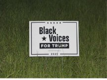 Black Voices For Trump Campaign Sign From Perry FL