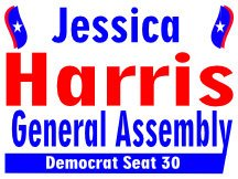 Harris For New Jersey General Assembly Campaign Sign