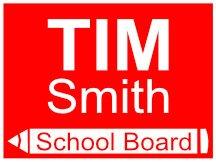 Tim Smith Pencil School Board Campaign Sign Logo