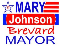 Mary Johnson Campaign Sign