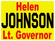 Yard Sign Logo For Johnson For Lt Governor