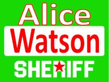 Alice For Sheriff Yard Sign Template