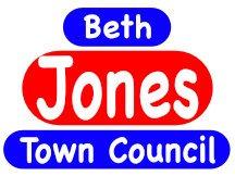Beth Jones For Town Council Campaign Sign Logo Design