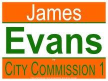 Evans Campaign Logo For City Commission
