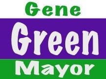 Green For Mayor Sign Logo