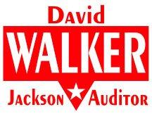 David Walker For Auditor Campaign Yard Sign Logo