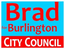 Campaign Sign For Brad For Burlington NC Logo