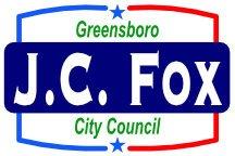 JC Fox Greensboro City Council Campaign Sign