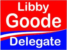 Libby Goode For Delegate Yard Sign Design Logo