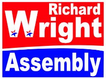 State Assembly Campaign Sign For Richard Wright