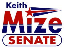 Keith Mize For Georgia Senate Campaign Sign