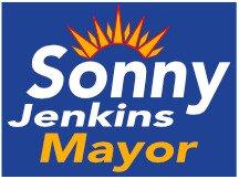 Sunburst Campaign Sign Design For Sonny Jenkins