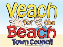 Veach For Beach Sign